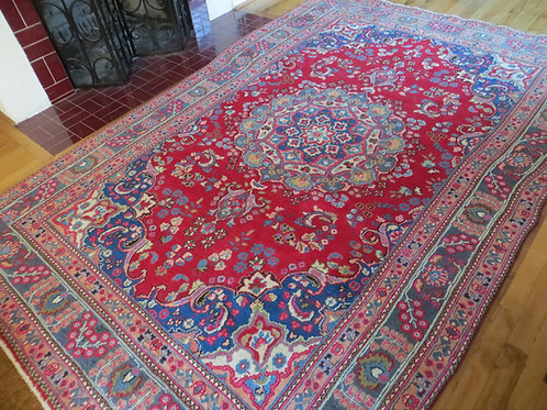 6.5 x 9.5 Hand Knotted Persian Sabzevar Rug
