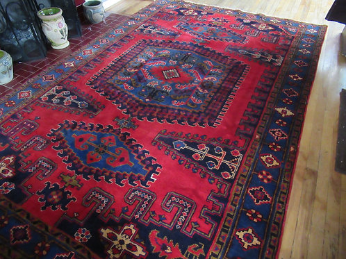 6.5 x 10 Hand Tied Persian Viss Rug