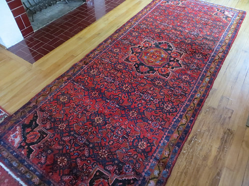 4 x 10 Hand Tied Persian Hosseinabad Rug