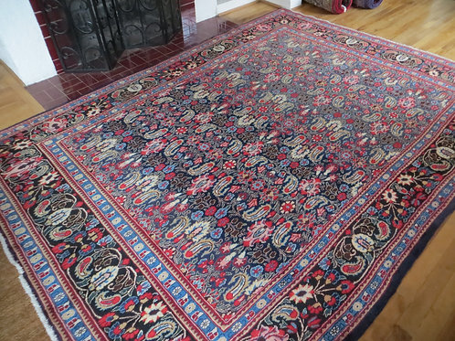 7 x 9 Hand Knotted Persian Khorason Rug