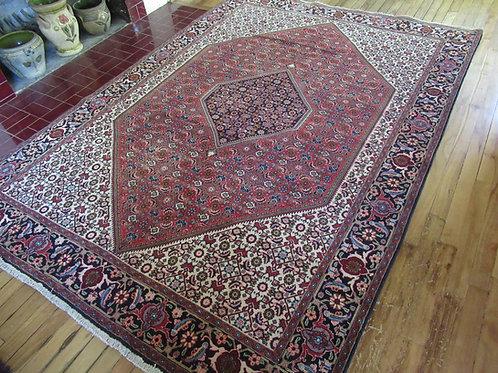 5.5 x 8 Hand Tied Persian Bijar Rug