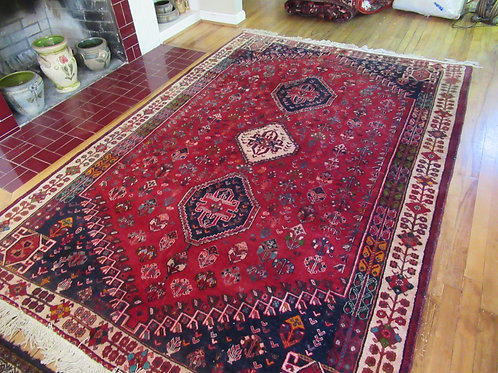 6 x 8.5 Hand Tied Persian Abadeh Rug
