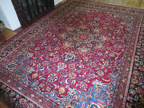 8 x 11 Hand Knotted Persian Mashad Rug