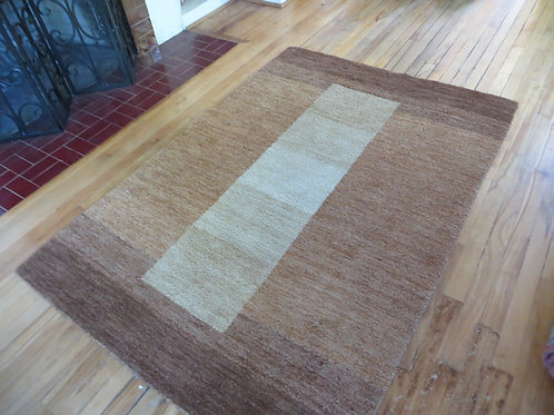 4 x 6 Hand Knotted Indo-Persian Gabbeh Rug