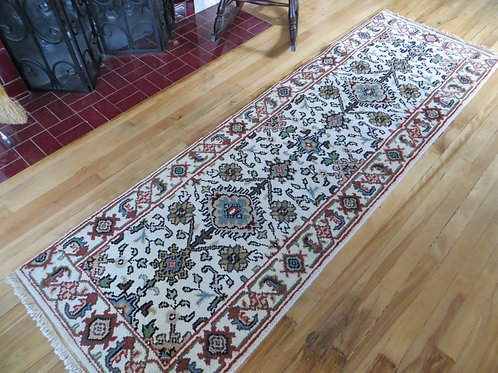 2.5 x 8 Indo-Persian Hand Knotted Mahal Runner