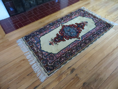 2.5 x 4.5 Hand Knotted Persian Tabriz Rug