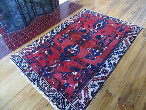 3.5 x 5 Hand Tied Persian Bakhtiar Rug