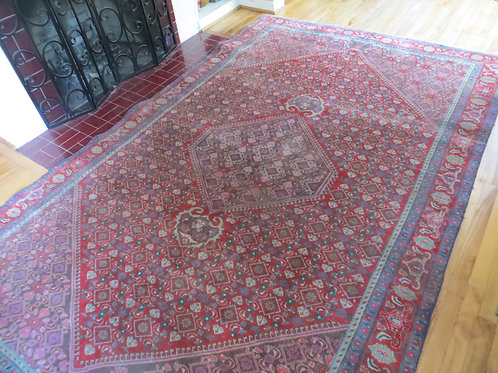6.5 x 10 Hand Tied Persian Bijar Rug