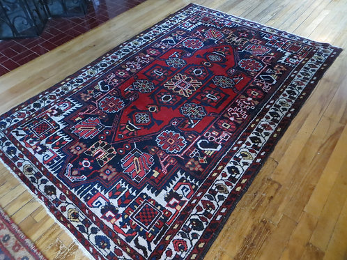 4.5 x 6.5 Hand Tied Persian Malayer Rug
