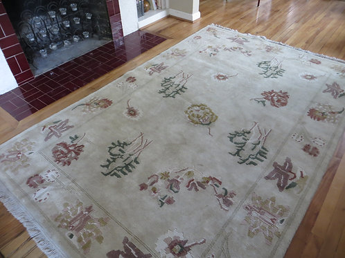 6 x 9 Hand Knotted Asian Pile Rug