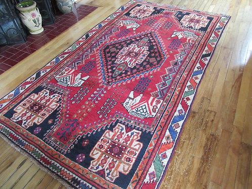 4.5 x 8 Hand Tied Persian Fars Rug