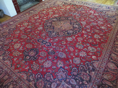 10 x 12 Hand Knotted Persian Mashad Rug