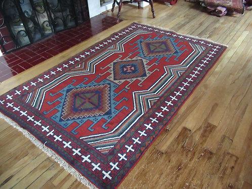 4 x 6 Hand Knotted Irani-Caucasian Rug