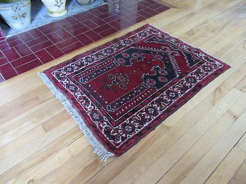 2.5 x 3 Hand Tied Persian Khamseh Prayer Rug