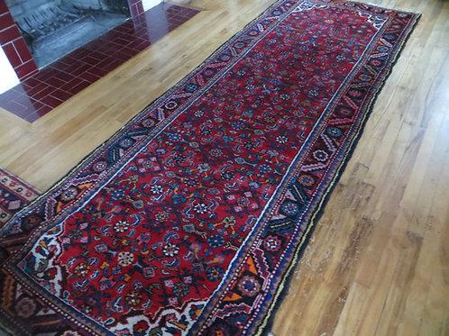 4 x 10.5 Hand Tied Persian Hamadan Rug