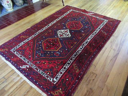 4.5 x 6.5 Hand Tied Persian Khamseh Rug