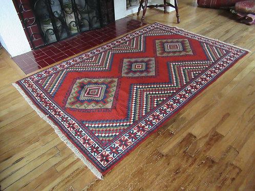 4 x 6.5 Hand Knotted Irani-Caucasian Rug