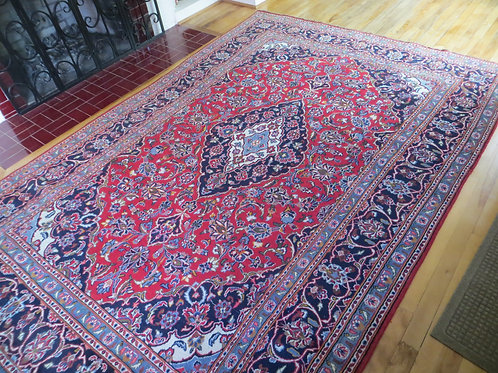 6 x 9.5 Hand Knotted Persian Kashan Rug