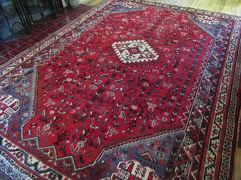 7 x 9.5 Hand Tied Persian Afshar Rug