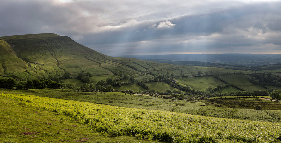 Twmpa Pano from Hay Bluff