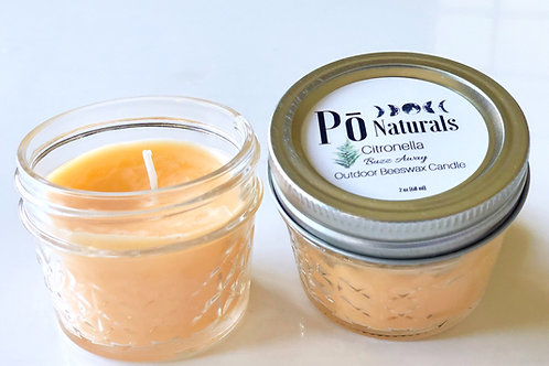 100% Beeswax Citronella Outdoor Candle 3oz