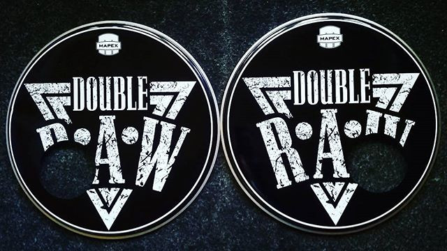 2x22_ for #doubleraw band #customdrums #