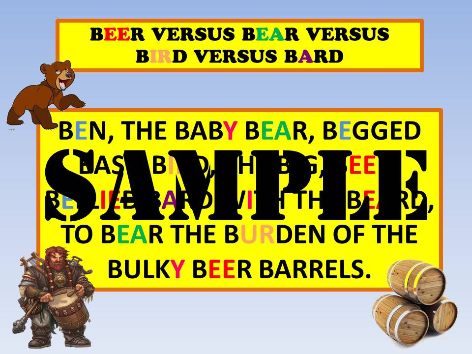 BEER vs. BEAR vs. BIRD pronunciation tip
