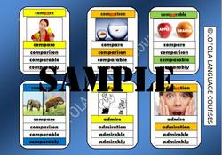 Word Family Quartet Game