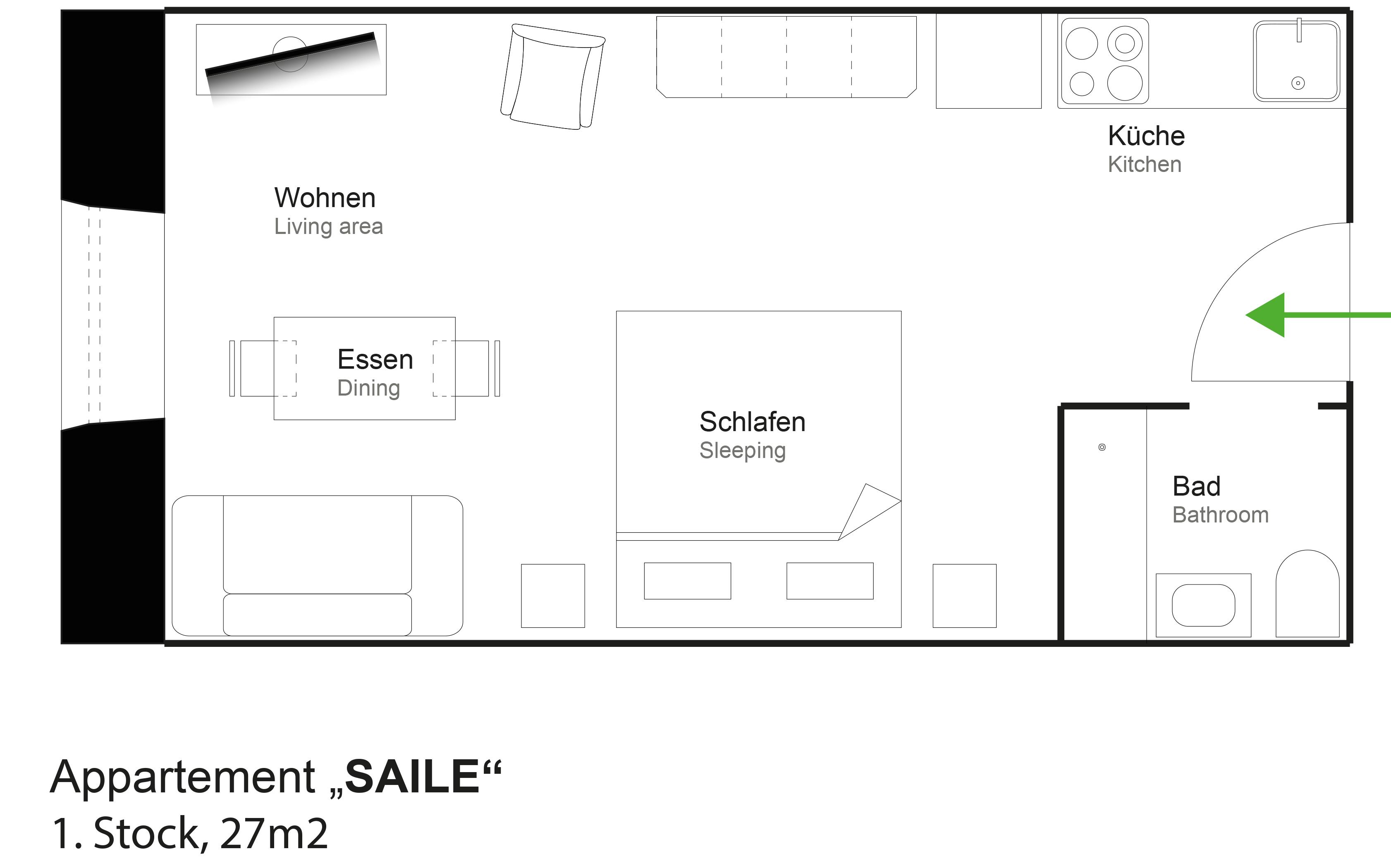 Skizze Saile