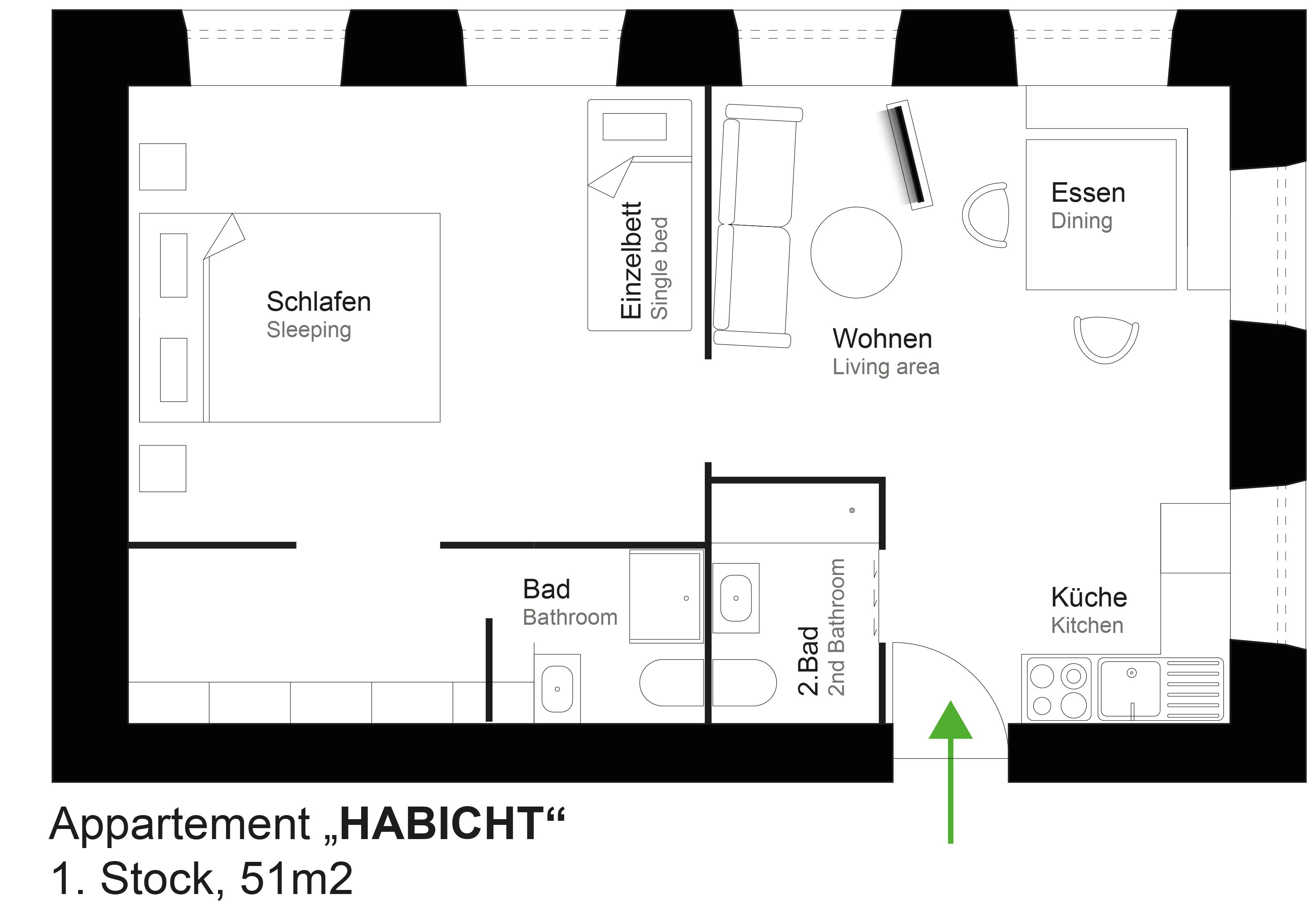 Skizze Habicht