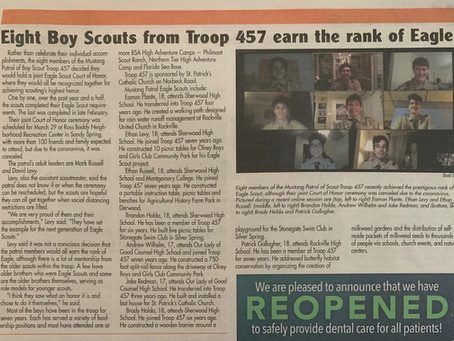 457 Eagle Scouts in the news