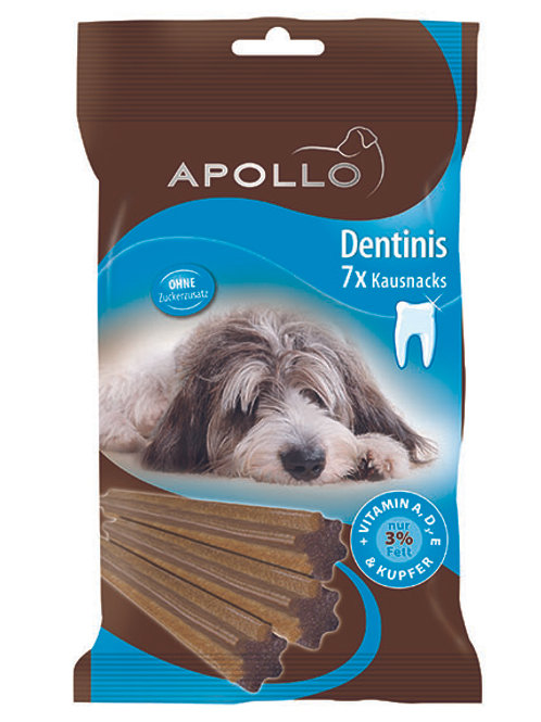 APOLLO DENTINIS CHEWING SNACKS FOR DOGS 7STK - 180G