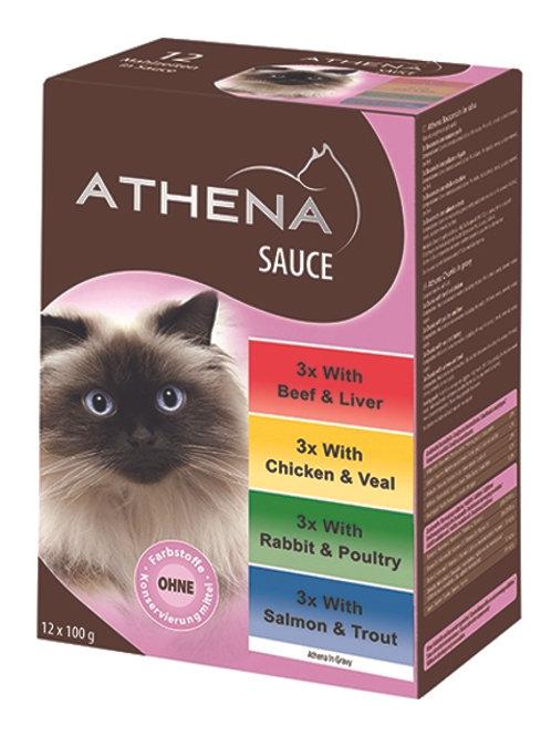 ATHENA VARIETY POUCH CHUNKS IN GRAVY -12X100G
