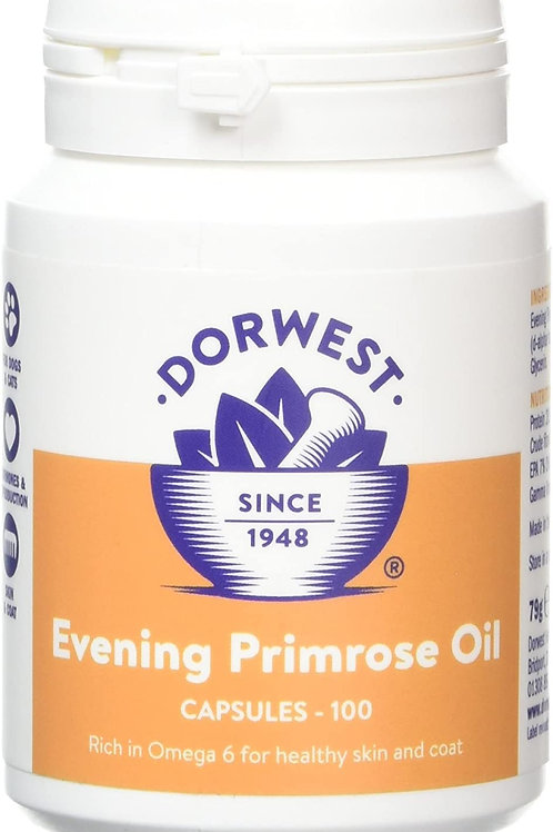 Dorwest Herbs Evening Primrose Oil Capsules for Dogs and Cats 100 Capsules