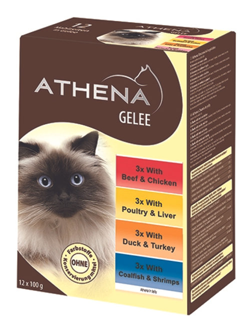 ATHENA VARIETY POUCH CHUNKS IN JELLY - 12X100G