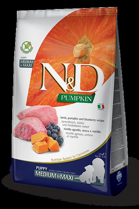N&D Puppy Medium/Maxi Lamb & Blueberry