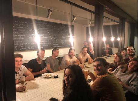 Soirée d'intégration pour le  début des entraînements d'équipes au restaurant. Au top!👍☺️🎾