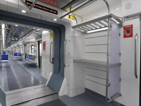 SP entrega primeiro trem com bagageiro para linha que vai até o Aeroporto de Guarulhos