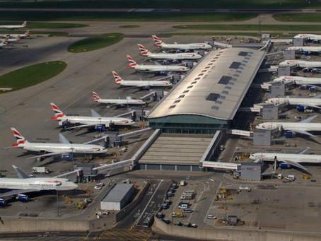 O Aeroporto de Heathrow pretende zerar emissões de carbono em 20 anos