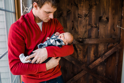 In-home lifestyle family session, newborn, toddler