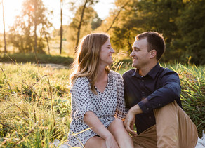 Somethin' bout a truck... in a farmer's field... Wisconsin Summer Golden Hour Engagement