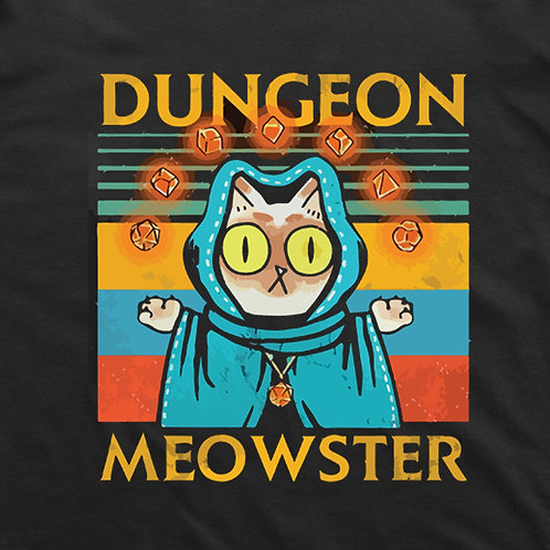 Dungeon Meowster T-Shirt (Black)