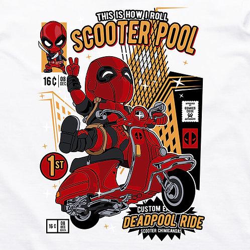 Deadpool: Scooterpool Short Sleeved T-Shirt