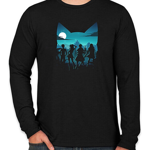 Fairy Tail: Silhouette  Long Sleeved T-Shirt
