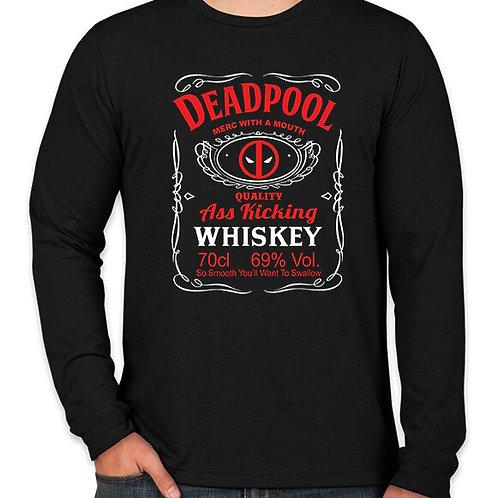 Deadpool Whiskey Long Sleeve Long Sleeve T-Shirt