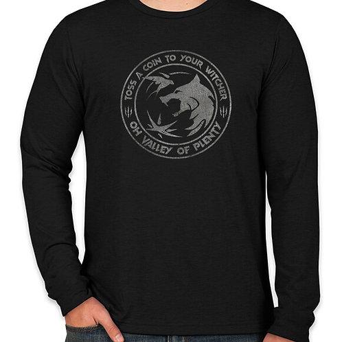 The Witcher: Toss a Coin (Black) Long Sleeve Long Sleeve T-Shirt