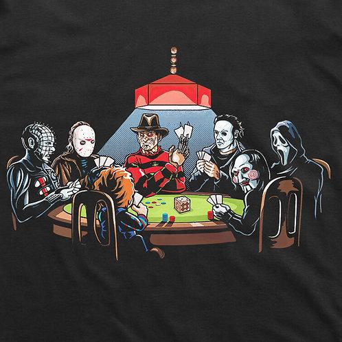 Horror Villains: Round Table Short Sleeved T-Shirt