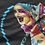 Thumbnail: Harley Quinn Pixel (Black) T-Shirt