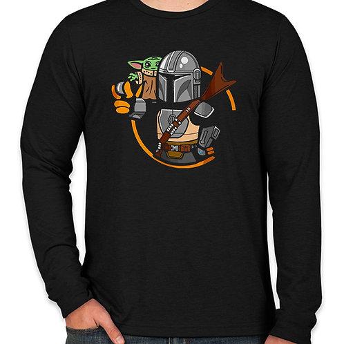 Star Wars Stylized Mandalorian  Long Sleeve Long Sleeve T-Shirt