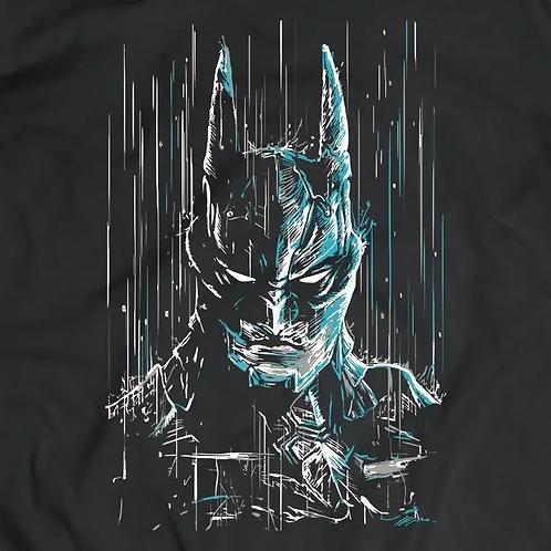 Batman Rain Short Sleeve T-Shirt